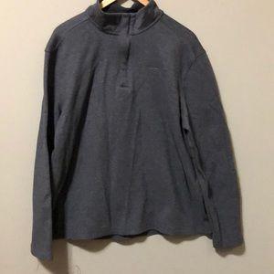 Men's Calvin Klein half zip NWOT large grey